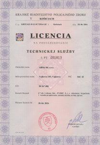Licencia technickej sluzby