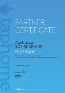 Certifikat Taphome